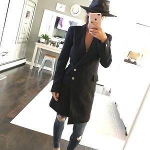 Rachel Roy black double breasted jacket size 0